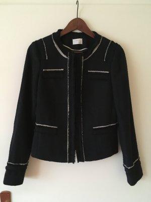 Schicker Bouclé-Blazer/Blouson-Jacke in dunkelblau von Esprit