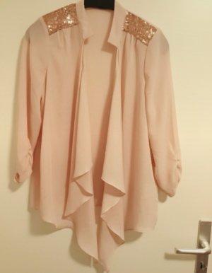 schicker cardigan in rosa / rosegold