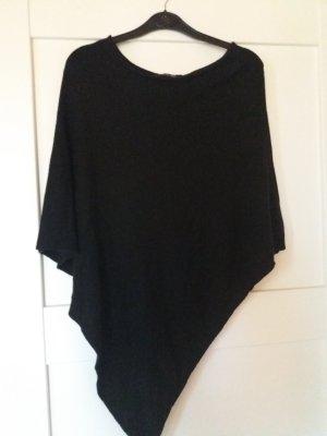 Lindsay Moda Poncho de punto negro