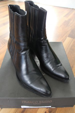 Franco Russo Stretch Boots black leather