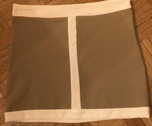Schicker, feiner Minirock in beige/creme, Gr. M, fällt aus wie Gr. 36