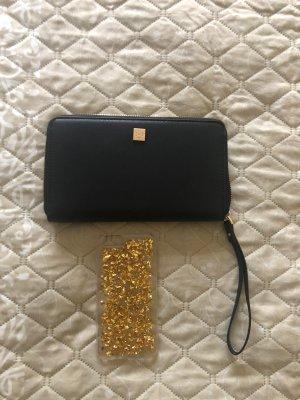 Pochette noir-doré