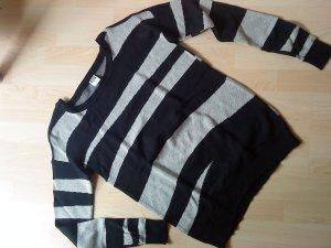 schicker grau-schwarzer Oversized-Pullover von Vero Moda M