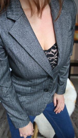 H&M Wool Blazer grey-dark grey
