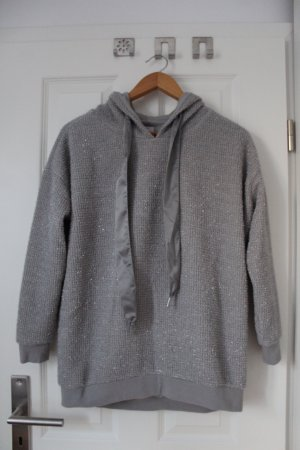 Only Capuchon sweater zilver