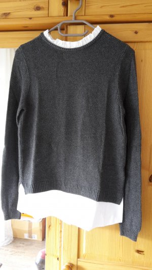Pimkie Crewneck Sweater dark grey-white