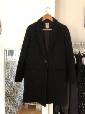 Zara Abrigo de forro negro
