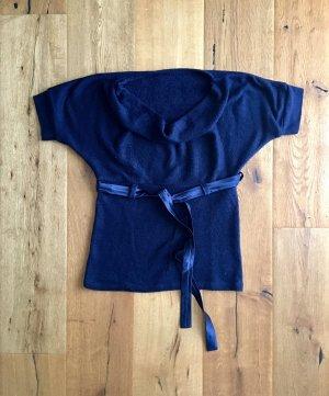 Sweater met korte mouwen blauw-donkerblauw