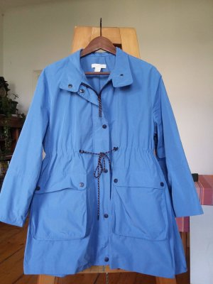 H&M Heavy Raincoat cornflower blue-azure synthetic material