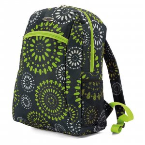 Backpack multicolored polyester