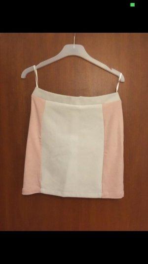 Mango Midi Skirt cream-pink