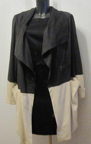 Schicker Mantel für Herbst schwarz-beige