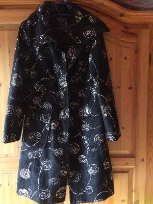 100% Fashion Winterjas zwart-wolwit