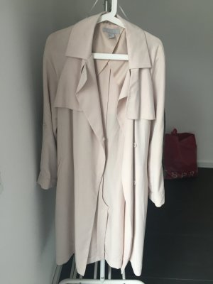 H&M Trench color carne-crema
