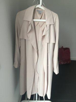 Schicker Mantel Übergangsjacke H&M Rosé Nude