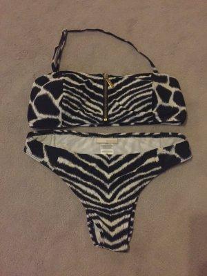 Michael Kors Bikini white-black spandex