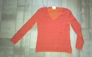 schicker, oranger Pullover aus 100% Kaschmir, Gr. 38,wie Neu