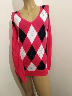 Schicker pink-gemusterter Tommy Hilfiger Pullover in tollem Muster Größe M
