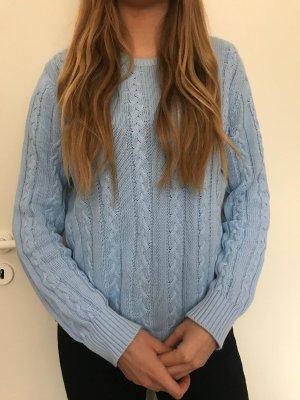 Benetton Kraagloze sweater azuur Katoen