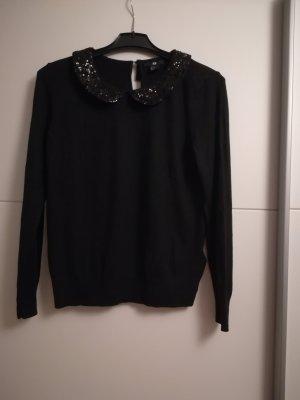 schicker Pullover in schwarz