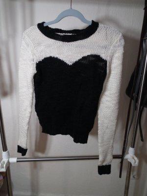 Schicker Pullover schwarz/weiß