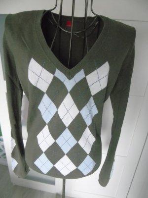 schicker Pullover von Esprit Gr. M in olivegrün
