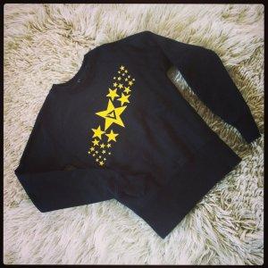 Schicker Pullover von Smaragd mit gelbem Sternenprint