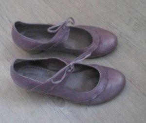 Tamaris Tacones con cordones malva-púrpura Cuero