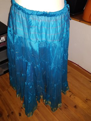 Broomstick Skirt gold-colored-turquoise