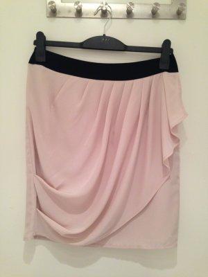 Schicker Rock in rosé/schwarz von H&M in Größe 40