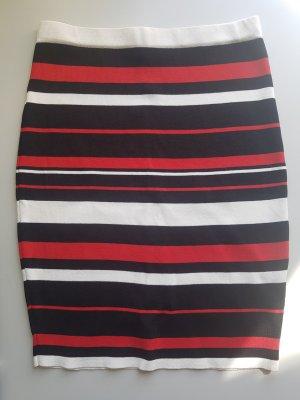 High Waist Skirt red