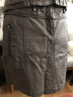 Oxmo Falda de cuero de imitación gris oscuro