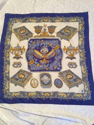 schicker Schal/ Tuch von Laura Kent, 80 x 80cm, stilvolle Damenmode, blau
