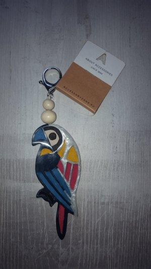Schicker Schlüssel-/ Taschenanhänger Papagei, bunt *Neu*
