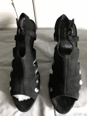 Slingback pumps zwart Suede