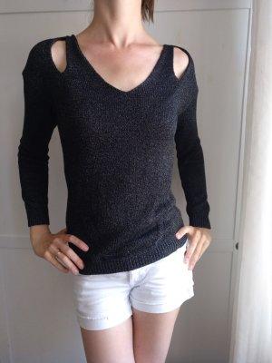 Schicker schwarz-silbernen Pullover