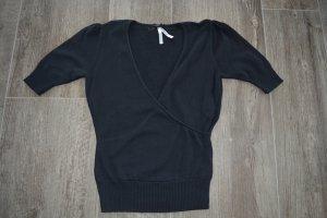 Schicker schwarzer Halbarm Pullover - Größe 38