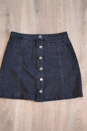 Jupe en jeans noir-argenté