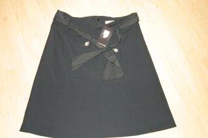 schicker schwarzer Rock von COMMA mit Gürtel und Etikett, Gr. 40 - NEU !!!