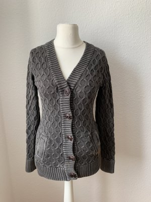 Khujo Coarse Knitted Jacket anthracite