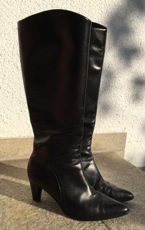Schicker Stiefel - Echtleder - Schwarz - Gr. 7 (40,5)
