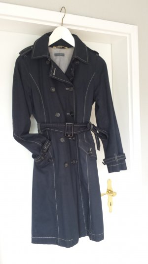 Sandra Pabst Trench blu scuro Cotone