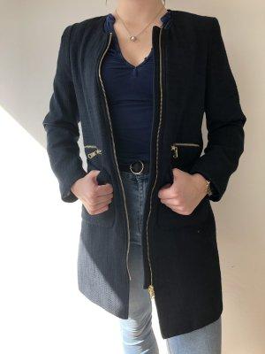 H&M Cappotto corto blu scuro-oro
