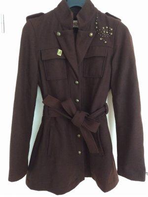Only Abrigo corto marrón-marrón oscuro