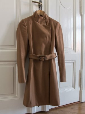 Schicker Wollmantel in Camel