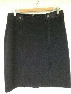 Olsen Gebreide rok donkerblauw