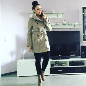 schicker Zara mantel in beige