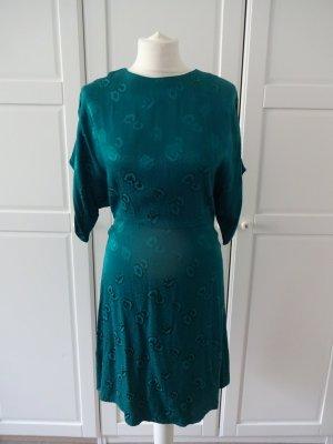 schickes Abendkleid smaragdgrün satinoptik
