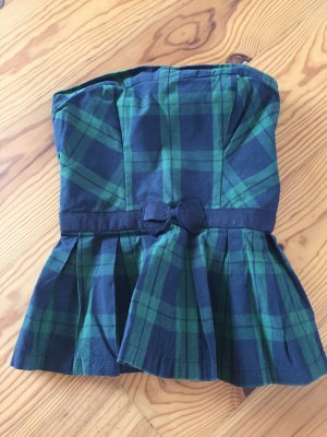 Abercrombie & Fitch Bandeau Top dark blue-forest green
