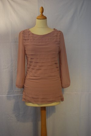 H&M Long Shirt dusky pink viscose